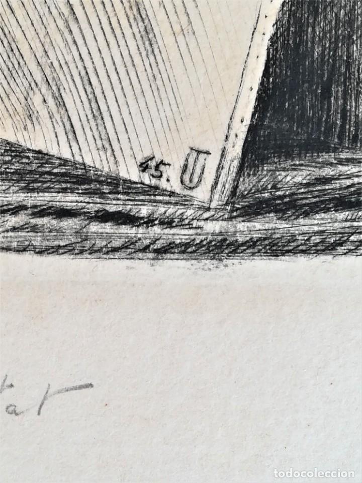 Arte: GRABADO ORIGINAL, IMAGEN PINTOR RAMON CASAS O SANTIAGO RUSIÑOL CON OLEO EN CAMPO,FIRMADO UTRILLO. - Foto 11 - 176381563