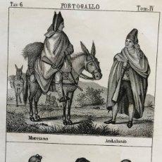 Arte: HOMBRES Y MUJERES DE ESPAÑA (MURCIA Y ANDALUCÍA) Y PORTUGAL , CA. 1850. ANÓNIMO. Lote 176542853