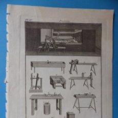 Arte: BONITO GRABADO PAULMIER - BILLÉ SCULP - AÑO 1775 - MEDIDAS 24X19 CM.. Lote 176678309
