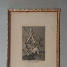 Arte: GRABADO DE GOYA. ORIGINAL. ´SUBIR Y BAJAR´. SE ADMITEN OFERTAS. 2. Lote 176750735