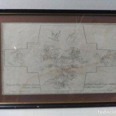 Arte: GRABADO SOBRE PAPEL, APOLO EN SU CARRO, DOMENICO SUNEGO - DOMENICO ZAMPIERI. Lote 176815629