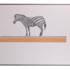 Arte: JUAN VIDA (GRANADA 1955) -REGLA-. GRABADO. FIRMADO Y NUMERADO CON TIRADA DE 125 59,8X90 CM.. Lote 176914900