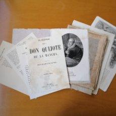 Arte: DON QUIJOTE DE LA MANCHA, LOS 14 GRABADOS DE LA EDICIÓN DE TOMAS GORCHS DE 1859. ORIGINALES DE ÉPOCA. Lote 176922023