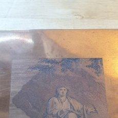Arte: PLANCHA DE COBRE O MATRIZ GRABADO DE SAN JUAN EVANGELISTA FINALES SIGLO XVIII. Lote 176984279