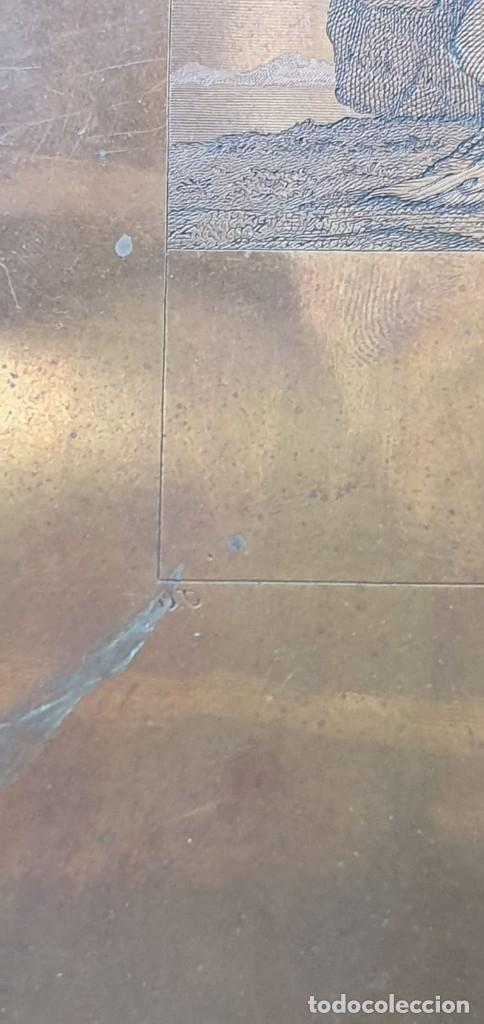 Arte: Plancha de cobre o matriz grabado de San Juan evangelista Finales siglo XVIII - Foto 3 - 176984279