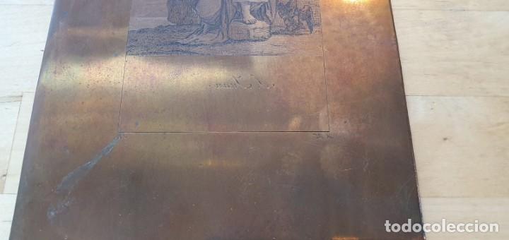 Arte: Plancha de cobre o matriz grabado de San Juan evangelista Finales siglo XVIII - Foto 4 - 176984279