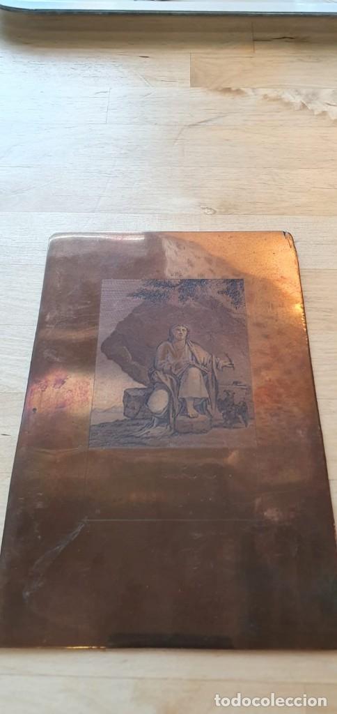 Arte: Plancha de cobre o matriz grabado de San Juan evangelista Finales siglo XVIII - Foto 6 - 176984279