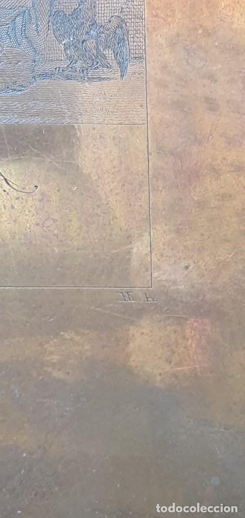 Arte: Plancha de cobre o matriz grabado de San Juan evangelista Finales siglo XVIII - Foto 8 - 176984279
