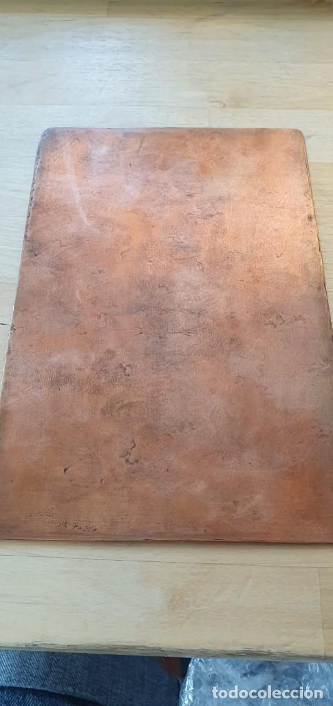 Arte: Plancha de cobre o matriz grabado de San Juan evangelista Finales siglo XVIII - Foto 9 - 176984279