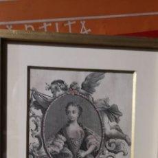 Arte: GRABADO DE LA REINA MARÍA LUISA, ESPOSA DE CARLOS TERCERO DE BORBÓN REY DE ESPAÑA 1745. Lote 177004022