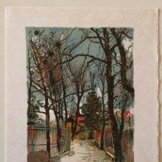 Arte: MICHEL DE GALLARD (1921-2007) PRECIOSA LITOGRAFÍA DE PARIS FIRMADA.. Lote 177301250