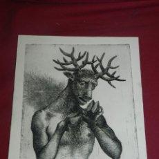 Arte: (M) MARC ALEU I SOCIES - GRABADO - 26,5X22,5 CM, SEÑALES DE USO NORMALES. Lote 177475365