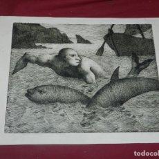 Arte: (M) MARC ALEU I SOCIES - GRABADO - 38X28 CM, SEÑALES DE USO NORMALES. Lote 177475487