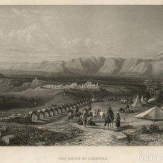 Arte: GRABADO AL ACERO DE 1862, VISTA DE LAS RUINAS DE LAODICEA, TURQUÍA, DENIZLI. SAMUEL BOUGH, W. WALLIS. Lote 177938878