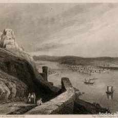 Arte: GRABADO AL ACERO DE 1858, VISTA DE COBLENZA, KOBLENZ, ALEMANIA, EHRENBREITSTEIN, RIN, MOSELA. CHOLET. Lote 177939117