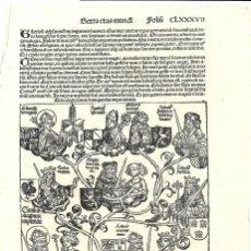 Arte: 1493 GRABADO CARLOMAGNO ORIGINAL INCUNABLE LIBER CHRONICARUM / CRÓNICAS DE NUREMBERG (SCHEDEL). Lote 178069448