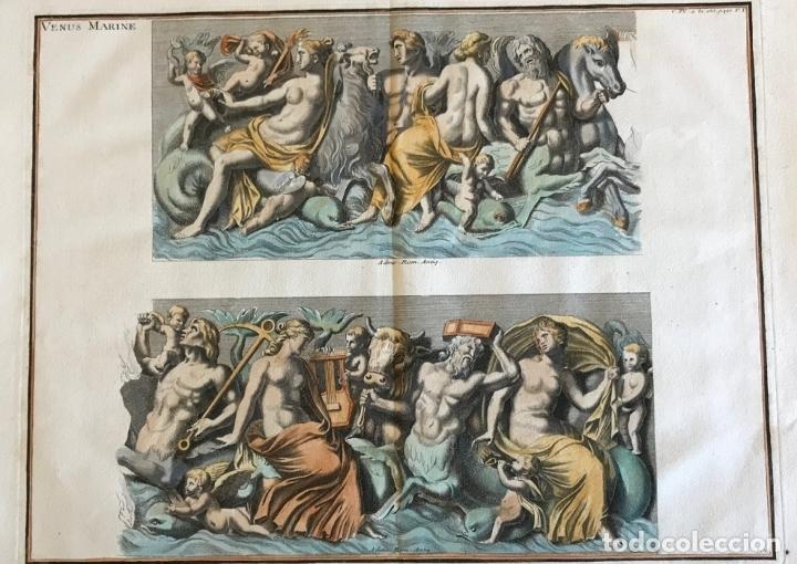 Arte: Gran grabado mitológico de la Venus marina, 1719. B. de Montfaucon - Foto 2 - 178274451