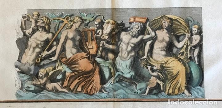 Arte: Gran grabado mitológico de la Venus marina, 1719. B. de Montfaucon - Foto 4 - 178274451
