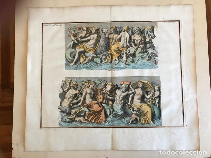 Arte: Gran grabado mitológico de la Venus marina, 1719. B. de Montfaucon - Foto 5 - 178274451