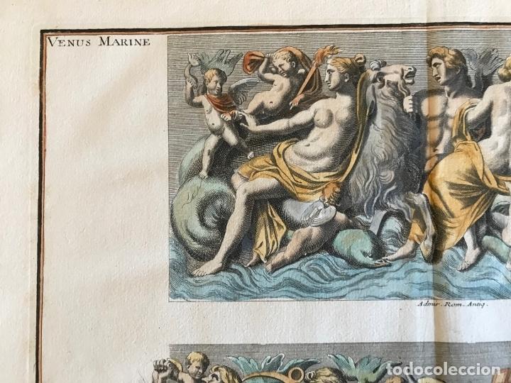 Arte: Gran grabado mitológico de la Venus marina, 1719. B. de Montfaucon - Foto 6 - 178274451