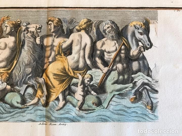 Arte: Gran grabado mitológico de la Venus marina, 1719. B. de Montfaucon - Foto 7 - 178274451