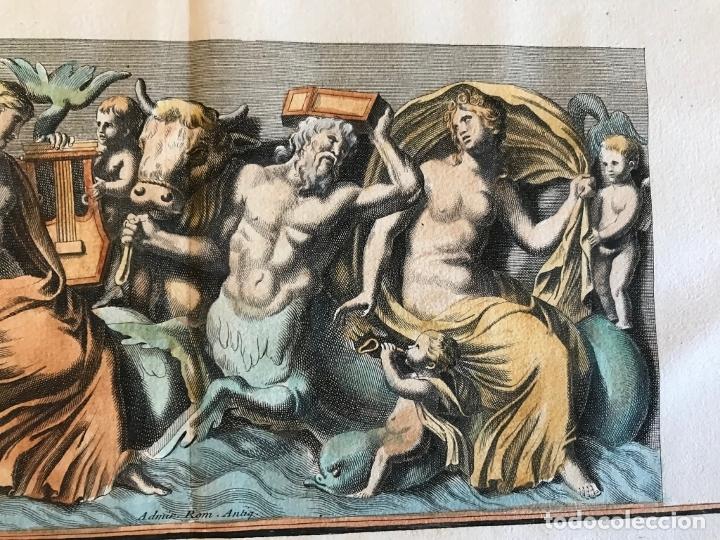 Arte: Gran grabado mitológico de la Venus marina, 1719. B. de Montfaucon - Foto 8 - 178274451