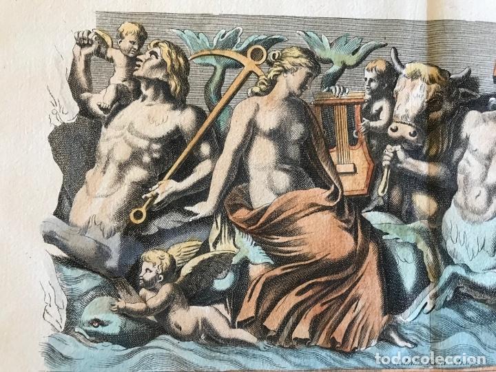 Arte: Gran grabado mitológico de la Venus marina, 1719. B. de Montfaucon - Foto 9 - 178274451