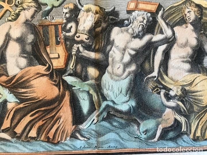 Arte: Gran grabado mitológico de la Venus marina, 1719. B. de Montfaucon - Foto 10 - 178274451