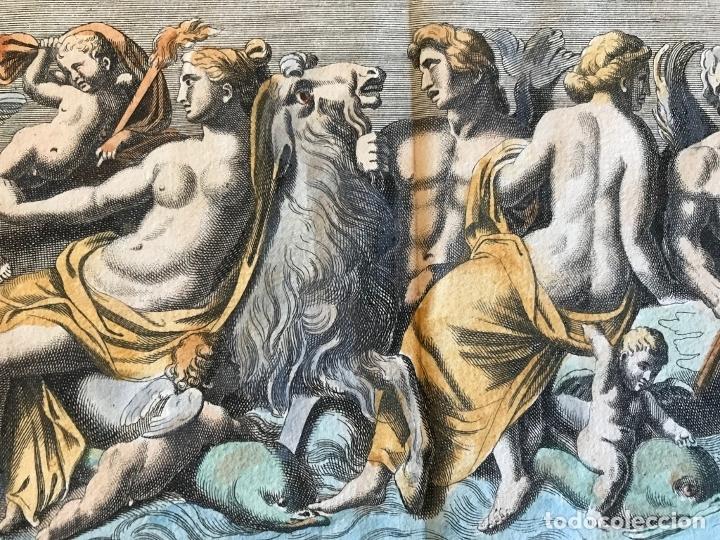 Arte: Gran grabado mitológico de la Venus marina, 1719. B. de Montfaucon - Foto 11 - 178274451