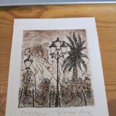 Arte: GRABADO CARME SERRA FIRMADO Y NUMERADO 205/225. Lote 178557727
