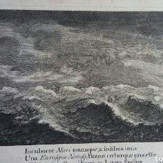 Arte: TORMENTA EN EL MAR CON BARCOS - GRABADO ANTIGUA - SIGLO 18° - HECHO POR JJ SARTOR Y BASTON. Lote 178570138