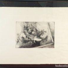 Arte: ESCENA COSTUMBRISTA. GRABADO SOBRE PAPEL. FIRMA ILEGIBLE. SIGLO XX. . Lote 178764340