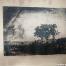 Arte: REMBRANDT. GRABADO 1643.. Lote 178855123