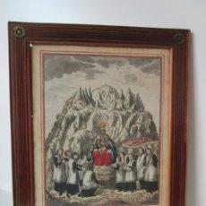 Arte: ANTIGUO GRABADO COLOREADO - VIRGEN DE MONTSERRAT - A. SALLENT - JOSEP FLAUGER LO DIBUJO - AÑO 1791. Lote 178931192