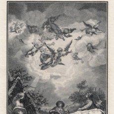 Arte: GRABADO A BURIL DE 1804, LOS ÁNGELES Y LOS PASTORES, DE ABRAHAM BLOEMAERT, GRAVÓ DAMBRUN, EN 4º. Lote 179008172