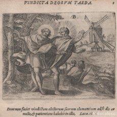 Arte: EMBLEMA S.XVII (1609), GRABADO COBRE, MIKROKOSMOS PARVUS MUNDUS, GERARD DE JODE, EL CASTIGO DE DIOS. Lote 179009445