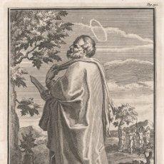 Arte: GRABADO PLANCHA DE COBRE DE 1760, SAN BARTOLOMÉ APÓSTOL. WILLIAM BURKITT, INFOLIO, SIGLO XVIII. Lote 179009691