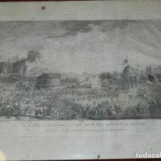Arte: (M) GRABADO DE NAPOLES - VUE DU PILLAGE DE LA COCAGNE, A NAPLES DANS LA PLACE LARGO DEL CASTELLO. Lote 179148061
