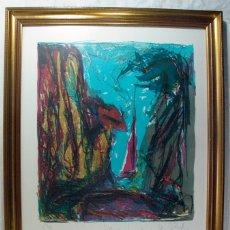 Arte: ANTIGUA LITOGRAFIA FIRMADA A LAPIZ POR ARLANDIS. 1984. CANTABRIA. Lote 179216891
