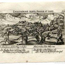 Arte: GRABADO LEBRIJA ( SEVILLA ) AÑO 1630. MEISNER. Lote 179534430