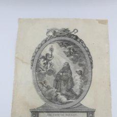 Arte: GRABADO SAN PASCUAL BAYLON SEÑOR ARZOBISPO ANTONIO BERGOSA JORDAN 1819 TARRAGONA. Lote 179538866