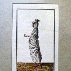Arte: AGUAFUERTE COLOREADO - MOGOLESA DEL HAREM - GRABADOR: MARTI - 18,5 X 11,5 CM. Lote 180035211