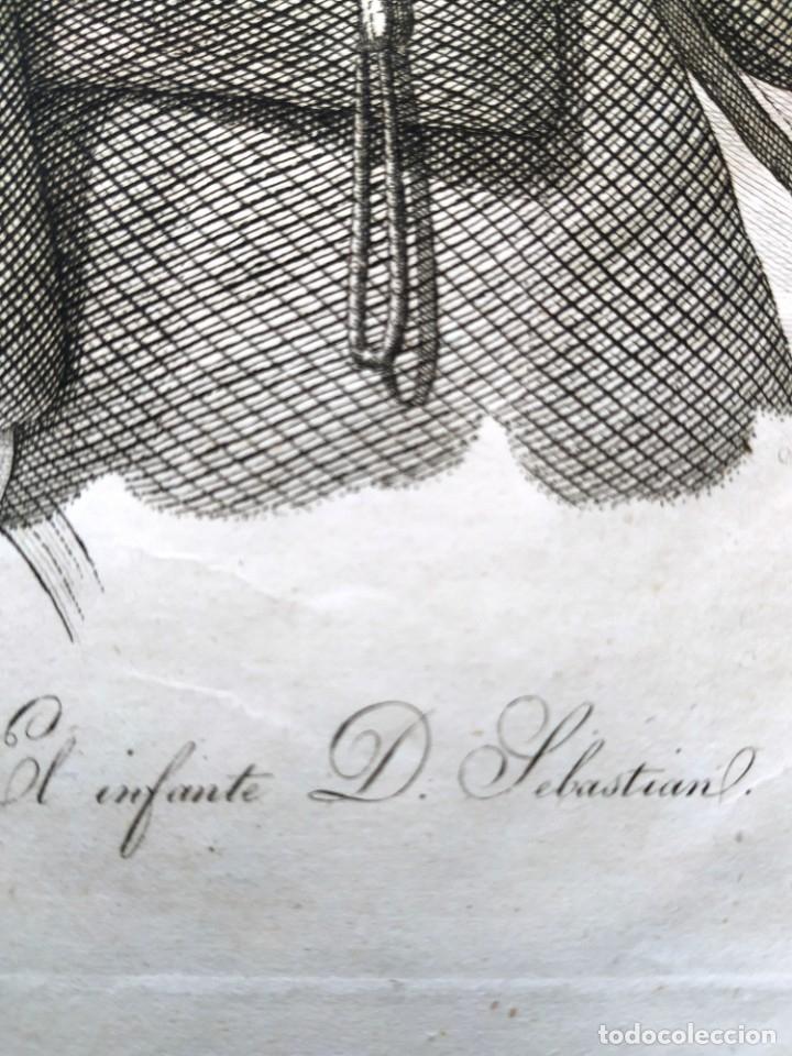 Arte: AGUAFUERTE - EL INFANTE D SEBASTIAN - 25 X 17,5 CM - Foto 2 - 180035342