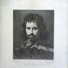 Arte: GRABADO RUYS VELAZQUEZ DA SILVA - GRABADOR: A. MASSON - PARIS 28,5 X 20 CM. Lote 180035468