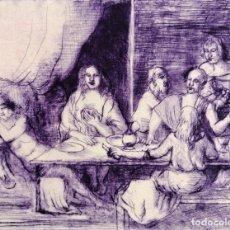 Arte: FIRMADO FERRER. GRABADO CON TIRAJE P.A. ESCENA CON PERSONAJES. Lote 180072387