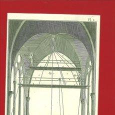 Arte: BERNARD DIREXIT. GRABADO SIGLO XVIII: PEINTRE EN BÀTIMENS. Lote 180092551