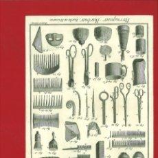 Arte: BERNARD DIREXIT. GRABADO SIGLO XVIII: PERRUQUIER-BARBIER, BARBE ET FRISURES. Lote 180092983
