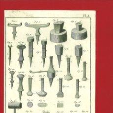 Arte: BERNARD DIREXIT. GRABADO SIGLO XVIII: ORFEVRE GROSSIER , OUTILS. Lote 180093156