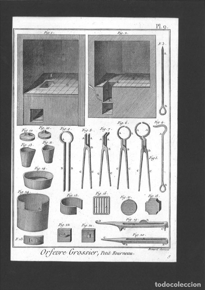 BERNARD DIREXIT. GRABADO SIGLO XVIII: ORFEVRE GROSSIER , PETIT FOURNEAU (Arte - Grabados - Contemporáneos siglo XX)
