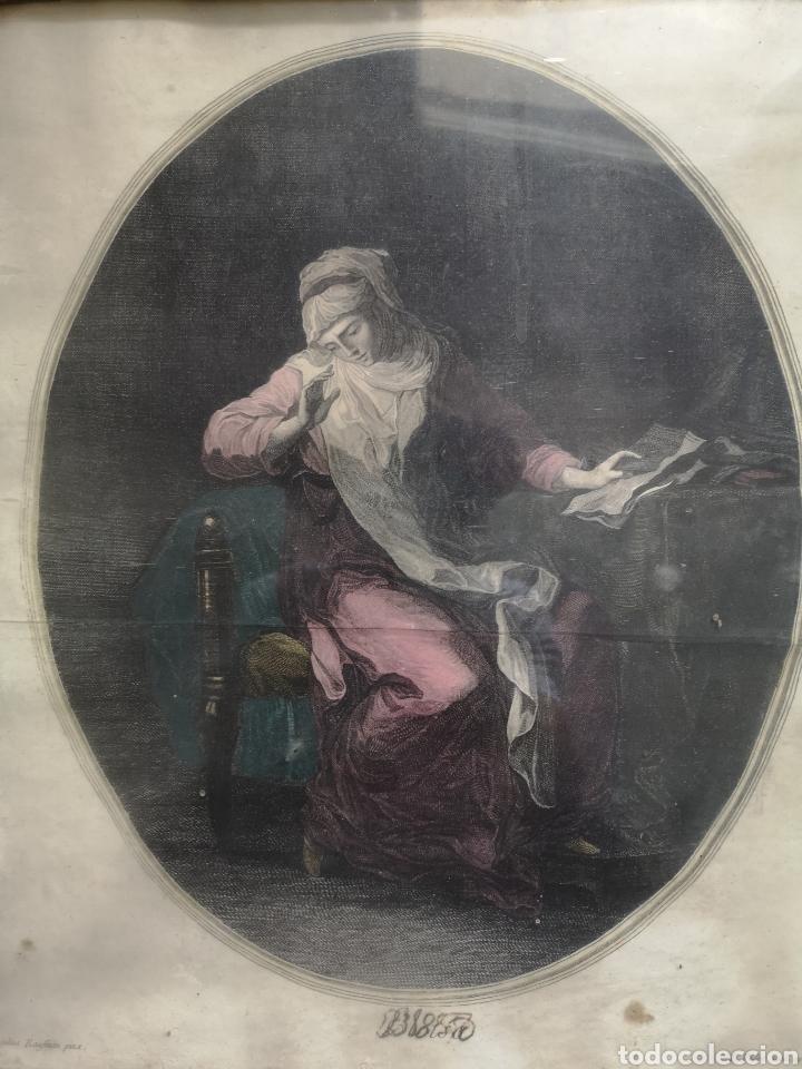 Arte: GRABADO ORIGINAL - AÑO 1888 - ANGELICA KAUFMAN - F. PEDRO SCUL. AP. CAVALLI VENETU - Mide 45x39 - Foto 2 - 180096747